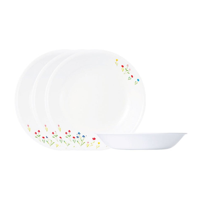 4pc 21cm Soup Plate Set , Flower Hill