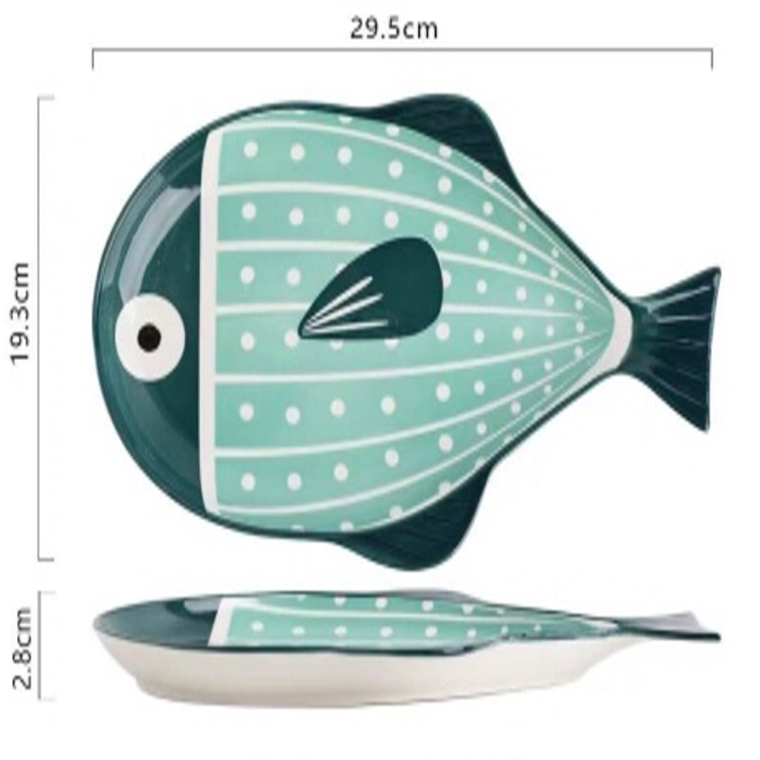 Plate 11.5 inch (Pufferfish Green)