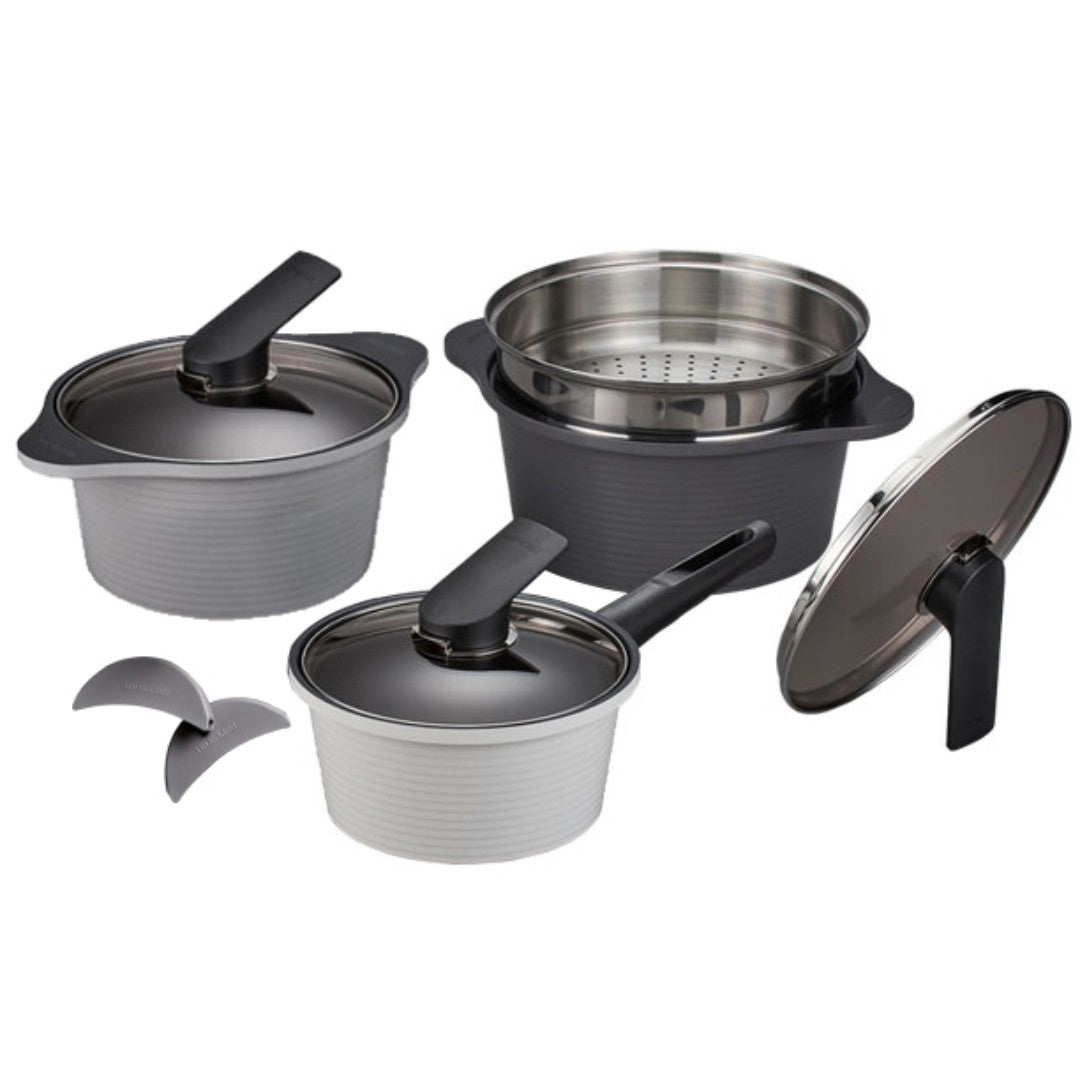 Arbo High Pure Ceramic 4pc Pot & Steamer Set