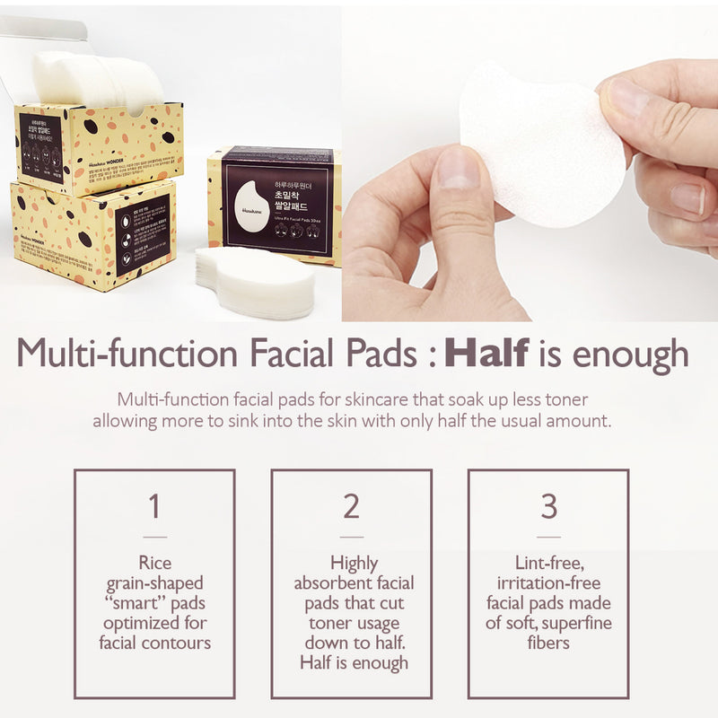 Ultra Fit Facial Pad, 50pcs