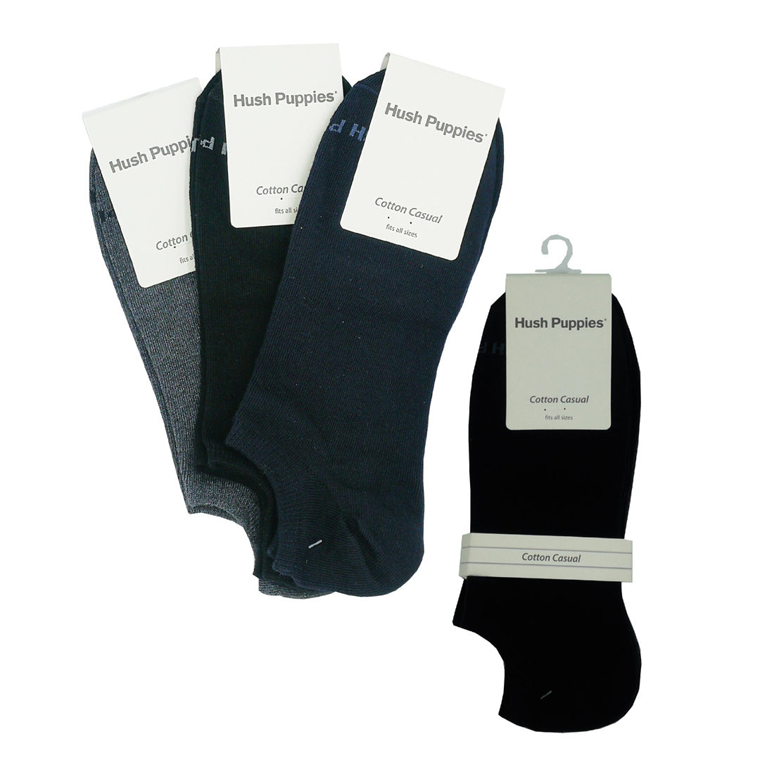 Ankle Socks 3-Pairs (Black / Dark Grey / Light Grey)