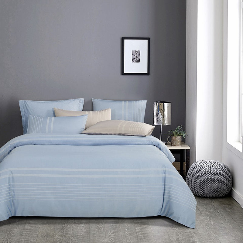 Luxe Living 900TC Tencel Jacquard Fitted Sheet Set (Ibiza Blue)