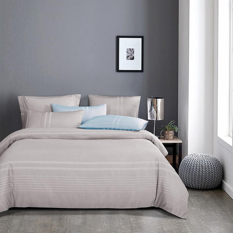 Luxe Living 900TC Tencel Jacquard Fitted Sheet Set (Ibiza Grey)