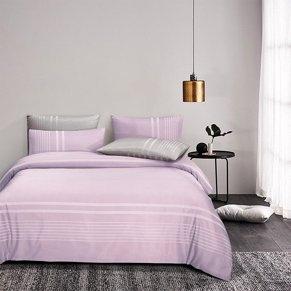 Luxe Living 900TC Tencel Jacquard Fitted Sheet Set (Ibiza Lilac)