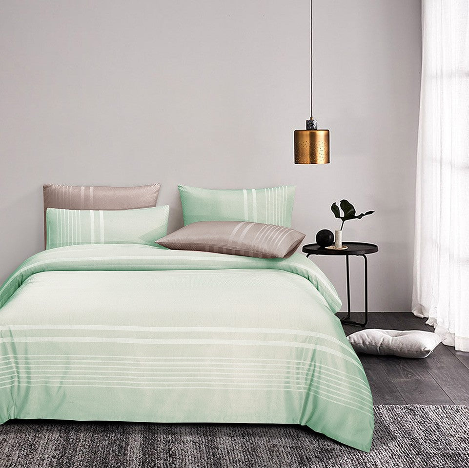 Luxe Living 900TC Tencel Jacquard Fitted Sheet Set (Ibiza Mint)