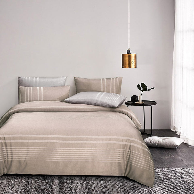 Luxe Living 900TC Tencel Jacquard Fitted Sheet Set (Ibiza Taupe)
