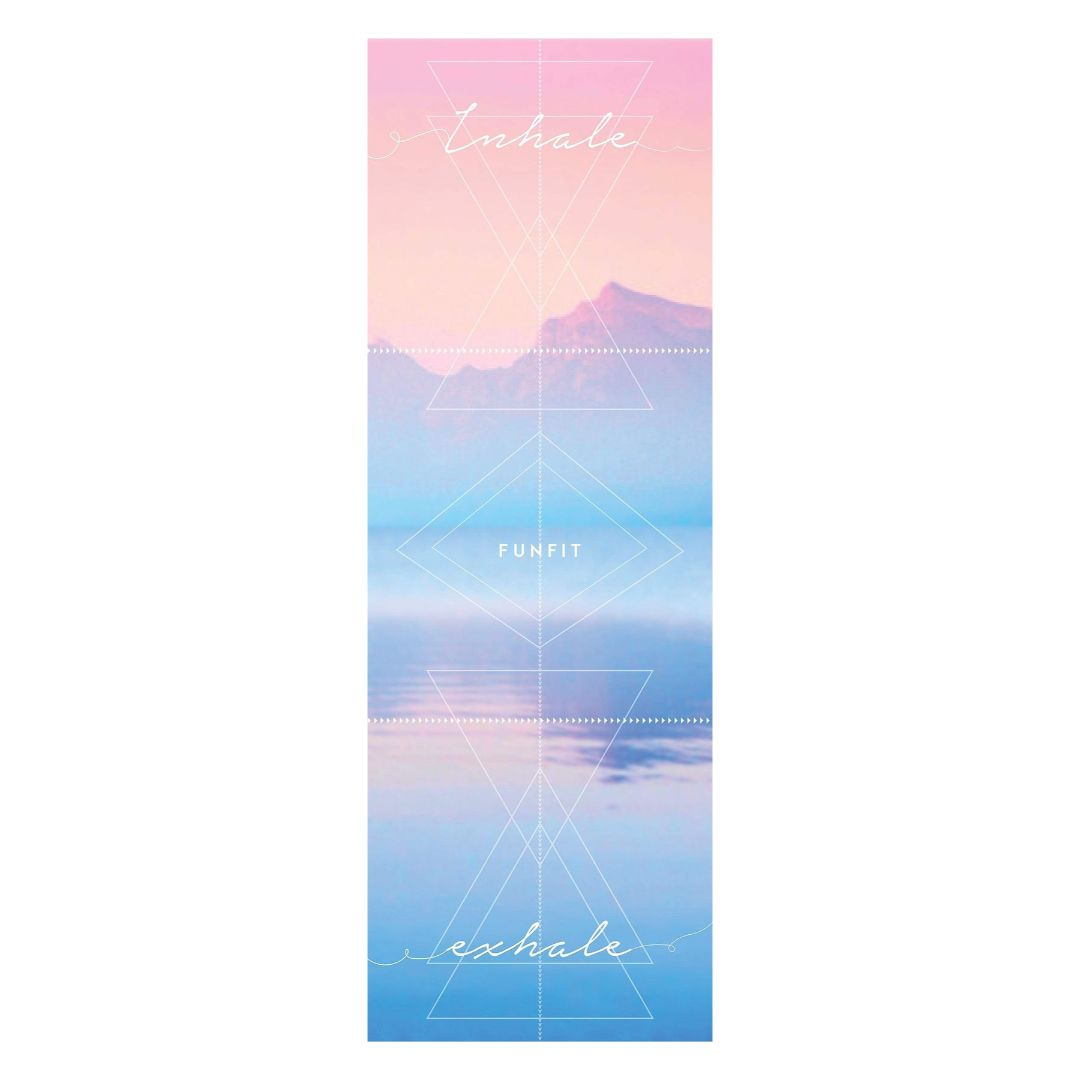 Indira Yoga Towel Mat 1mm (with rubber bottom)