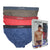 Hipster Briefs 3-PC (Assorted colours)