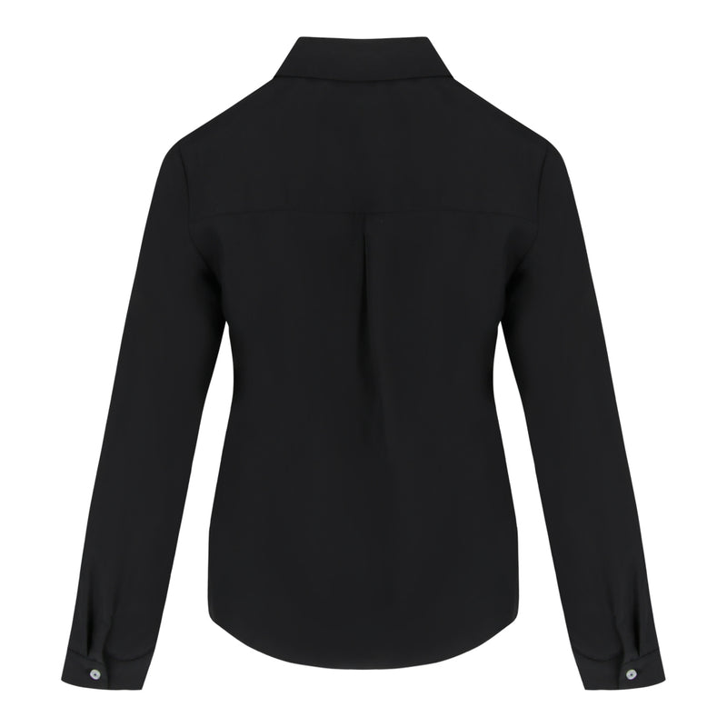 Long Sleeve Pocket Shirt (Black)