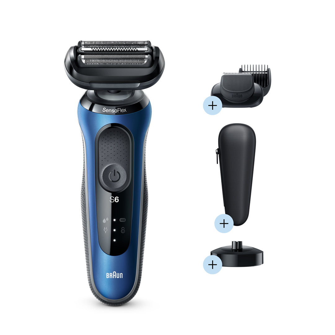 Series 6 60-B4500cs Shaver with Trimmer (Blue)
