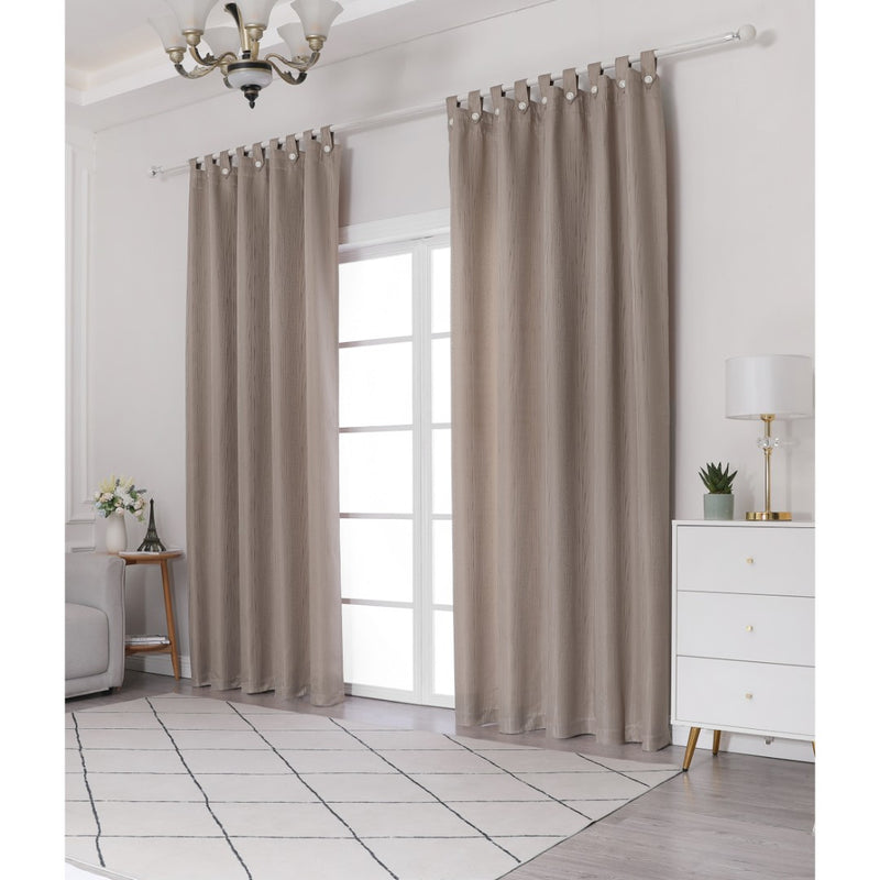 Jacquard Half Length Curtain in Taupe (160x170cm)