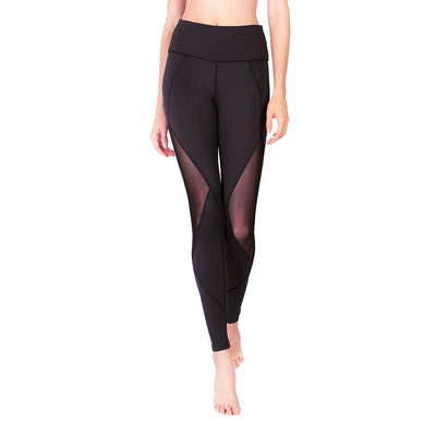 Limitless Diamond Mesh Leggings (with Keeperband®) in Black