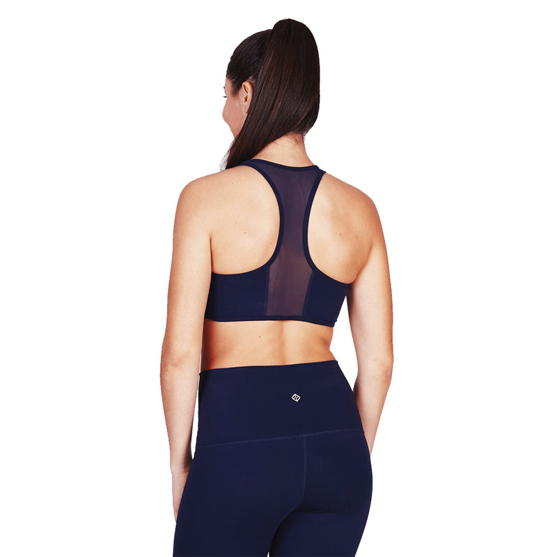 Luxtride Bra with Back Mesh in Indigo