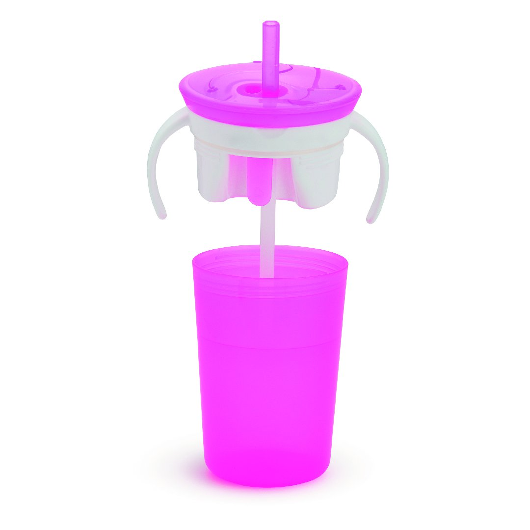 Snack Catcher + Sip Cup (Pink)
