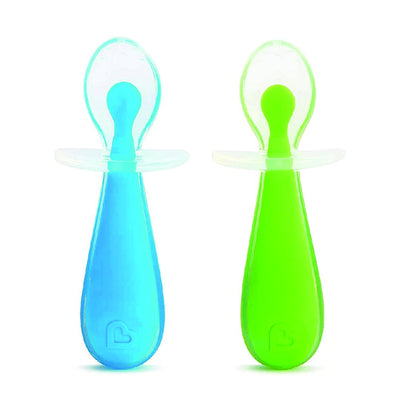 2 pieces Gentle Scoop Spoons (Blue/Green)