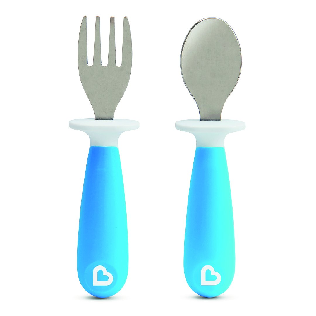 Raise Toddler Fork & Spoon (Blue)