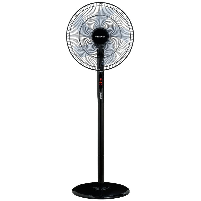 16'' Stand Fan with Remote (Black)