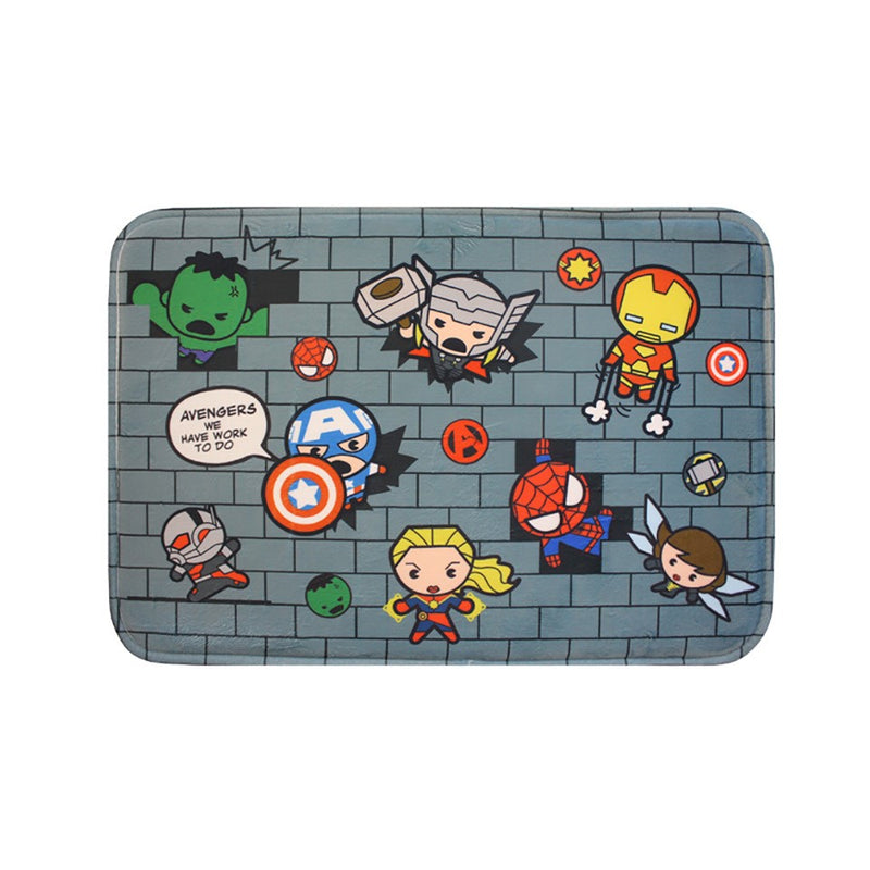 Disney Marvel Memory Foam Bath Mat (Marvel Wall)