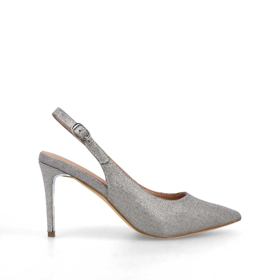 Amato Slingback Pumps (Silver)