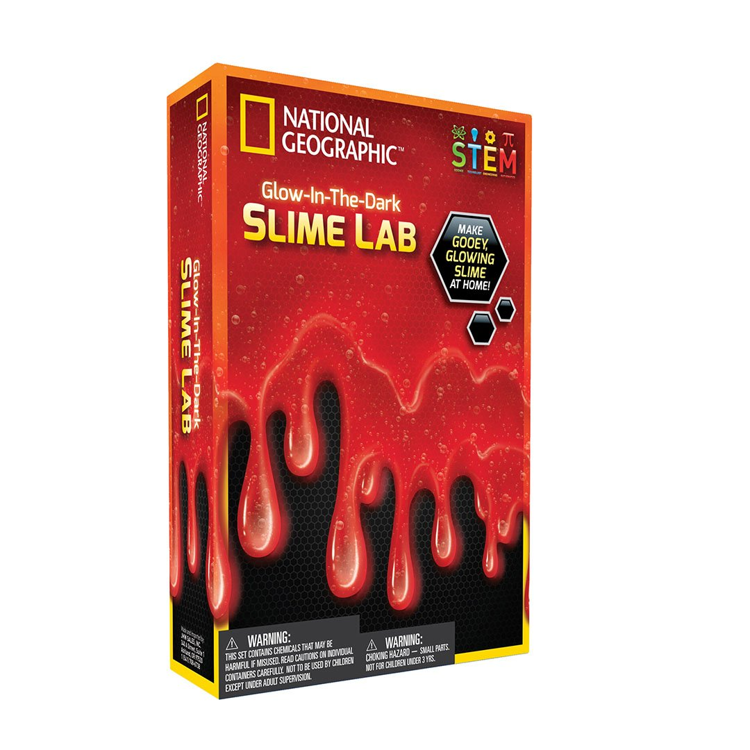 Glow in The Dark Red Slime Lab
