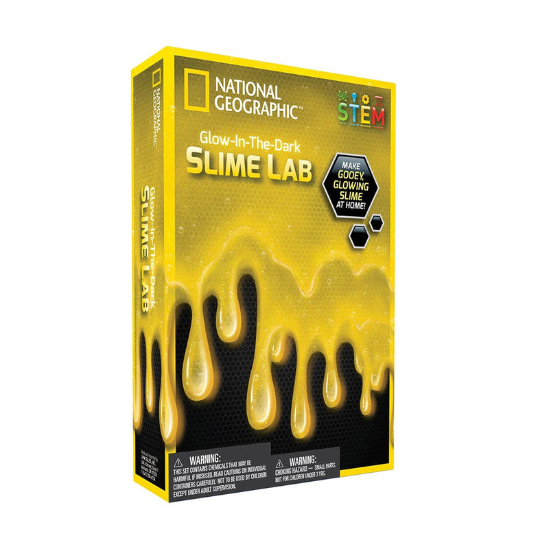 Glow in The Dark Yellow Slime Lab