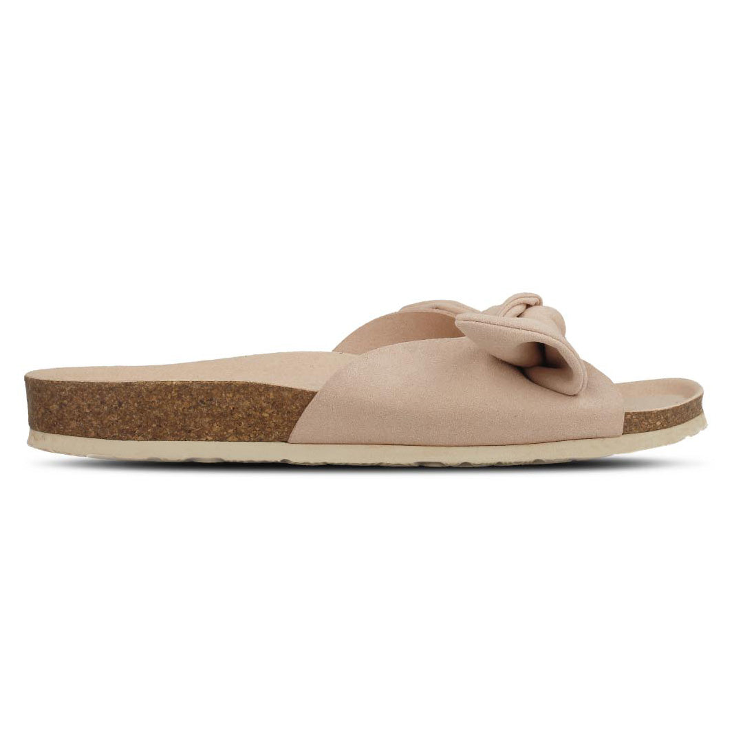 Ribbon Vegan Suede Sandals