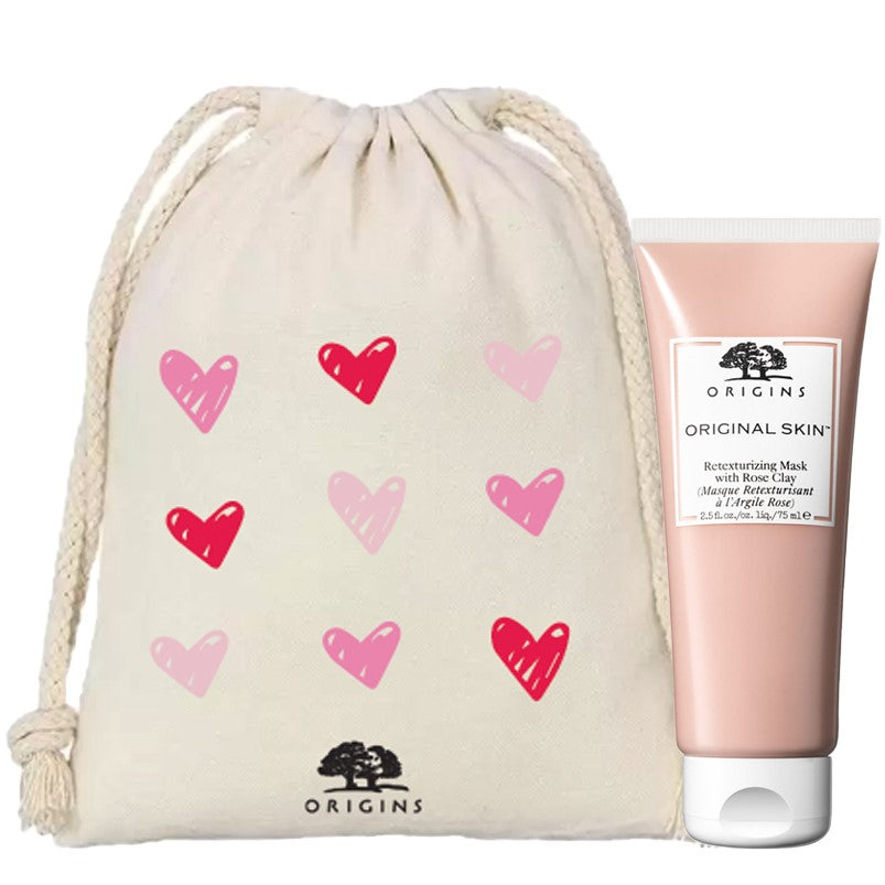 ORIGINAL SKIN™ Retexturizing Mask With Rose Clay with Limited Edition Cosmetic Bag