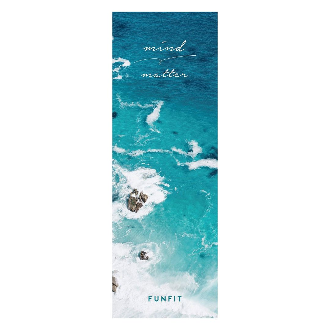 Oceanic Yoga Towel Mat 1mm (with rubber bottom)