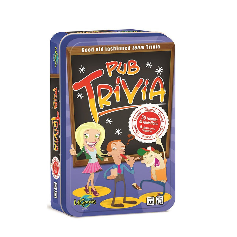 Pub Triva Tin Game