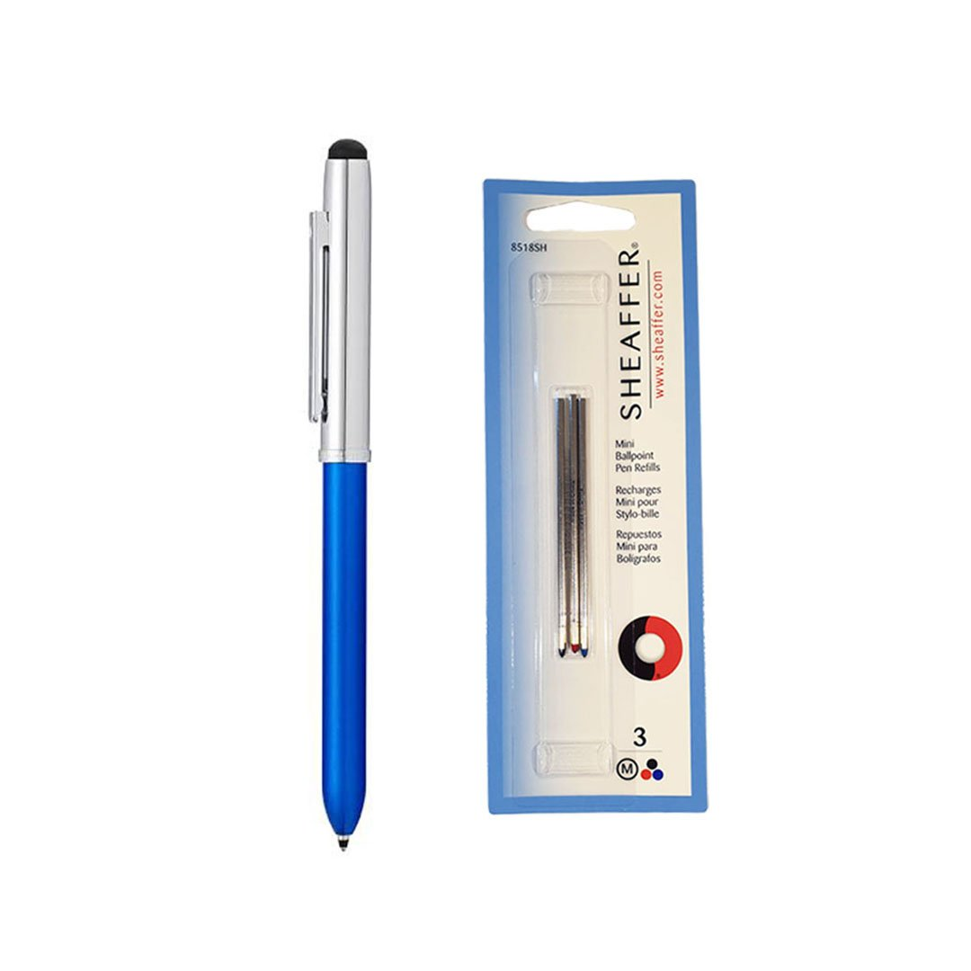 Quattro Multi-Function Pen Blue + Refill