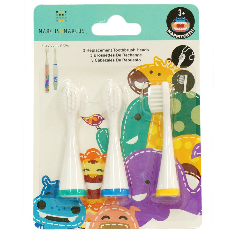 3 Replacement Toothbrush Heads Ollie, Lucas, Lola