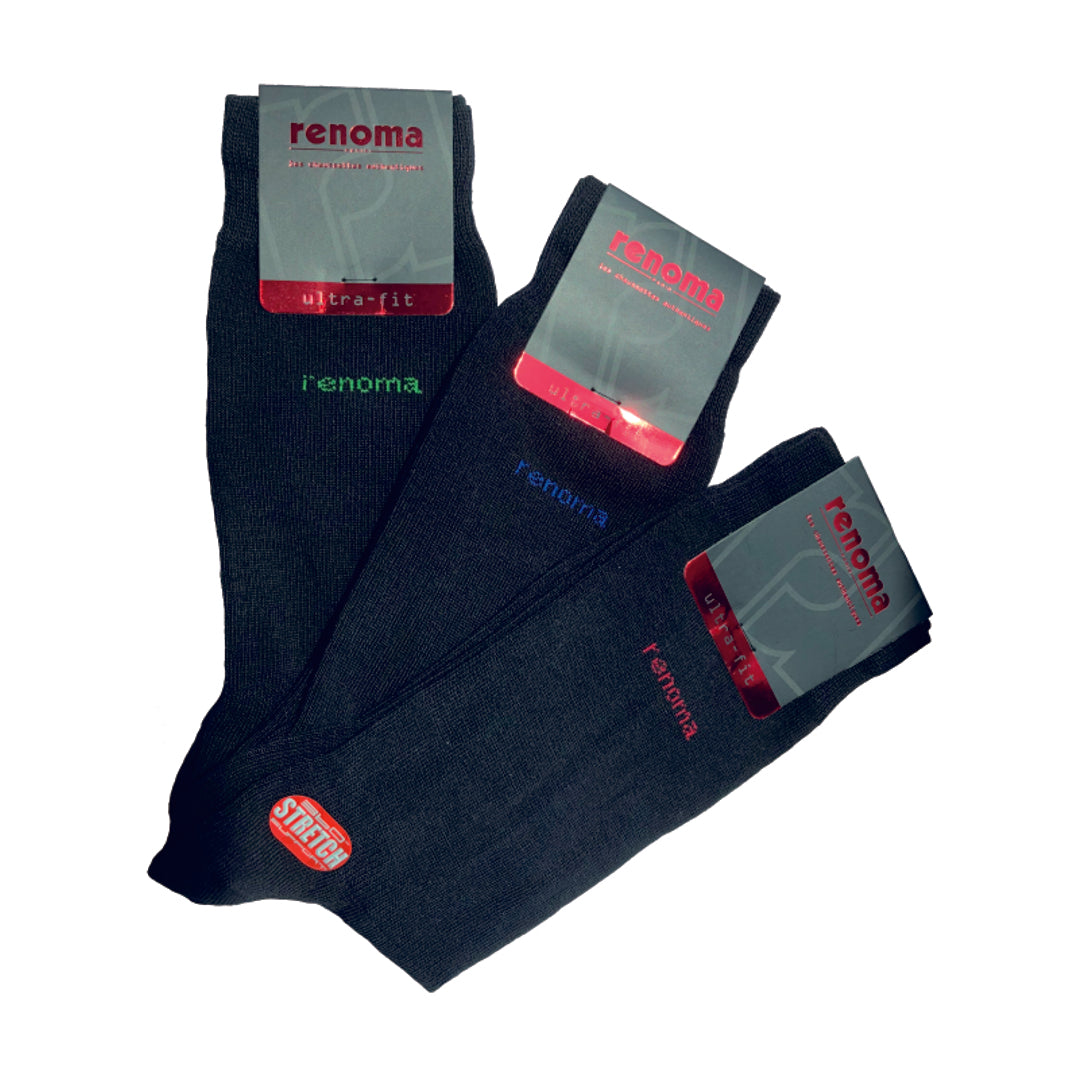 Casual Socks 3-Pairs (Black)