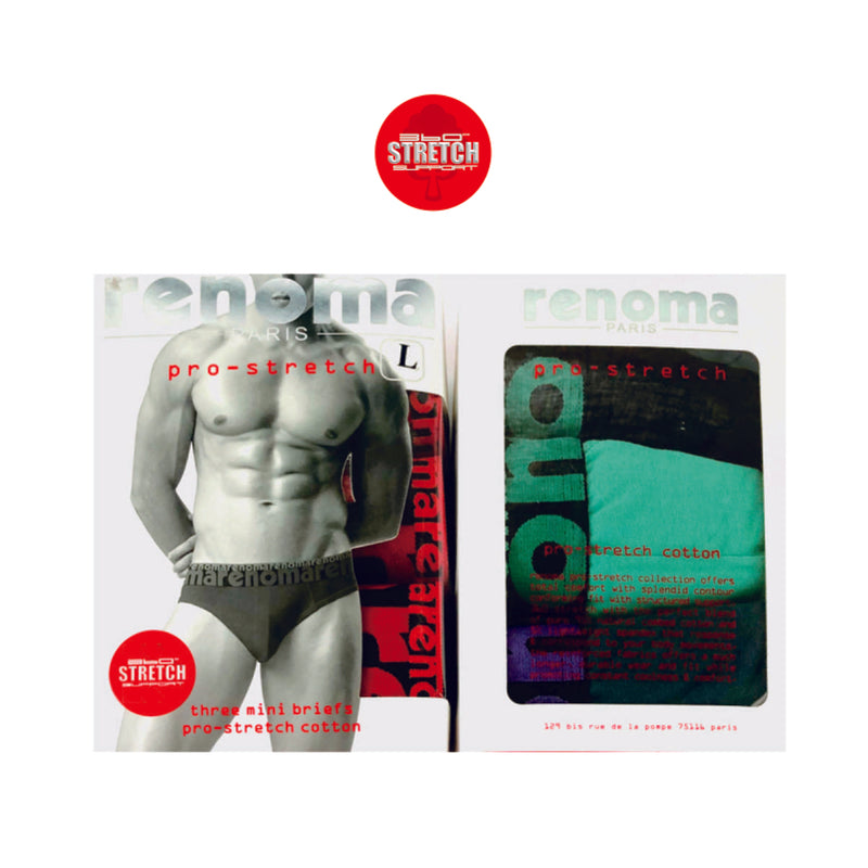Pro-Stretch Mini Briefs 3-PC (Black/ Green/ Blue)