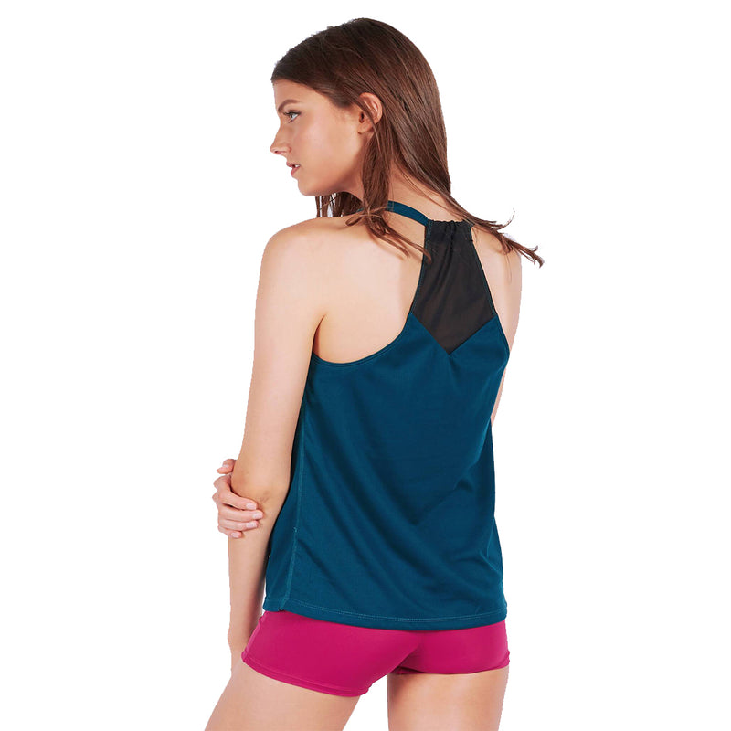 Rocking with Mesh Tank Top in Dark Teal