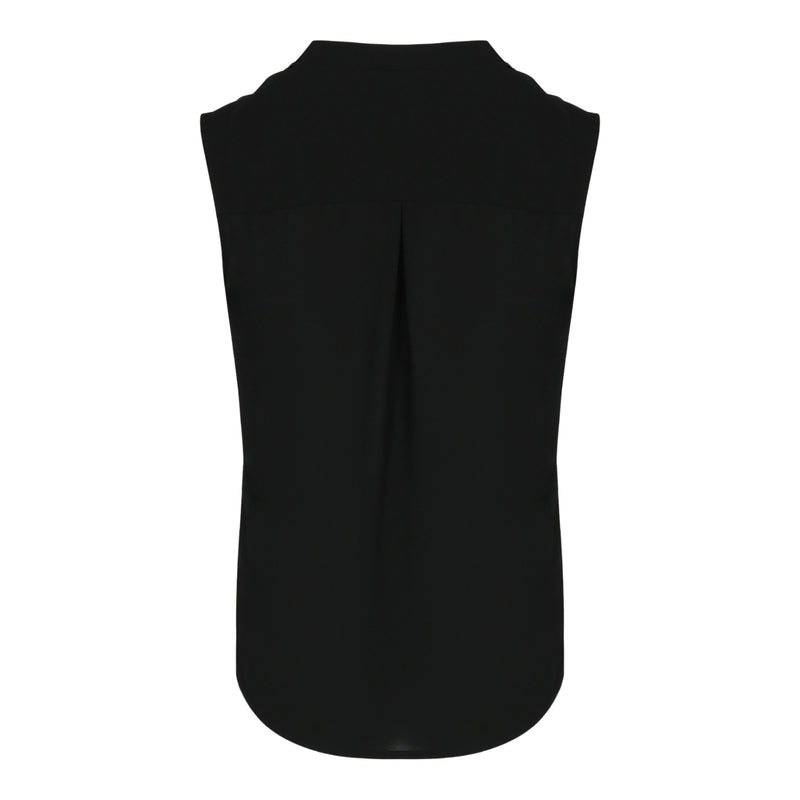 Pin Tuck Sleevless Top (Black)