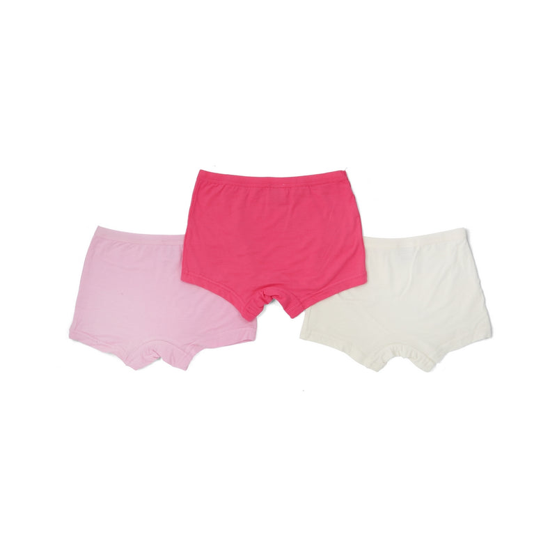 Girls Shortie (3-Pack Set) - Pink/White