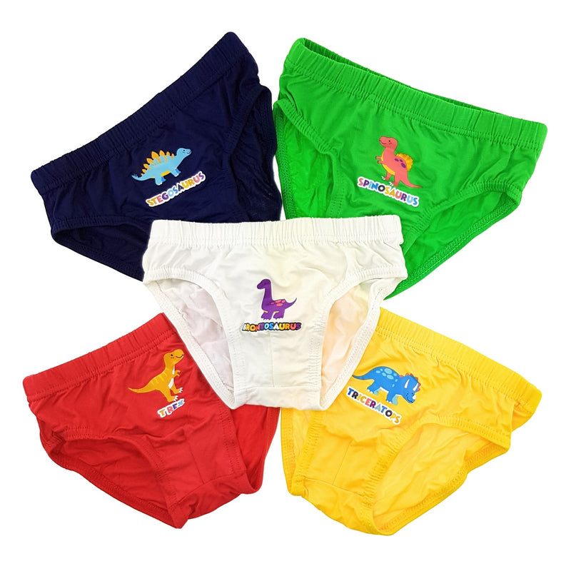 Boys Briefs (5-Pack Set) - Dinosaurs