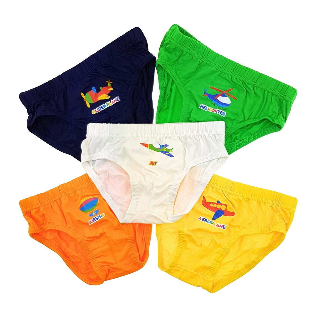 Boys Briefs (5-Pack Set) - Planes