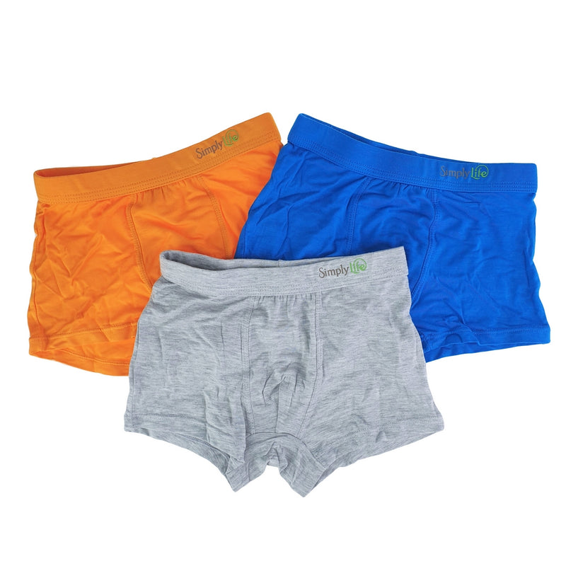 Boys Briefs (3-Pack Set) - Blue/Grey/Orange