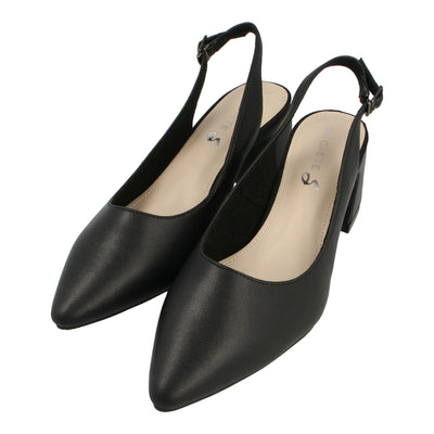 Slingback Leather Pumps