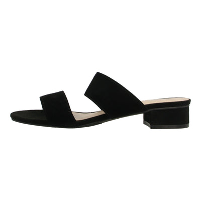 Double Strap Leather Slides
