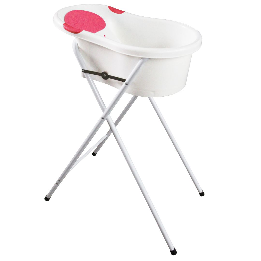 Bath Tub with Stand (S) (Blue & Pink)