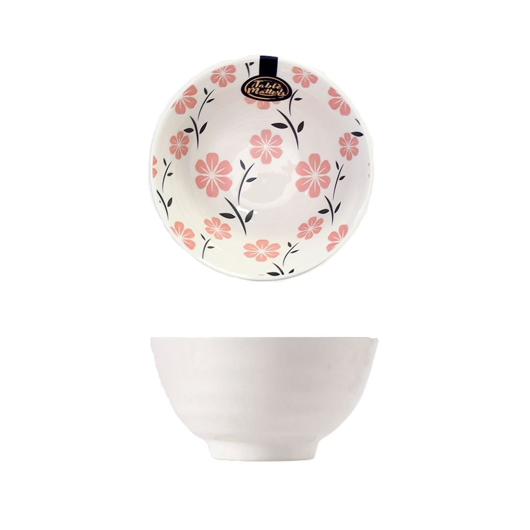 Hand Painted Threaded Bowl 5 inch (Sakura Pink)