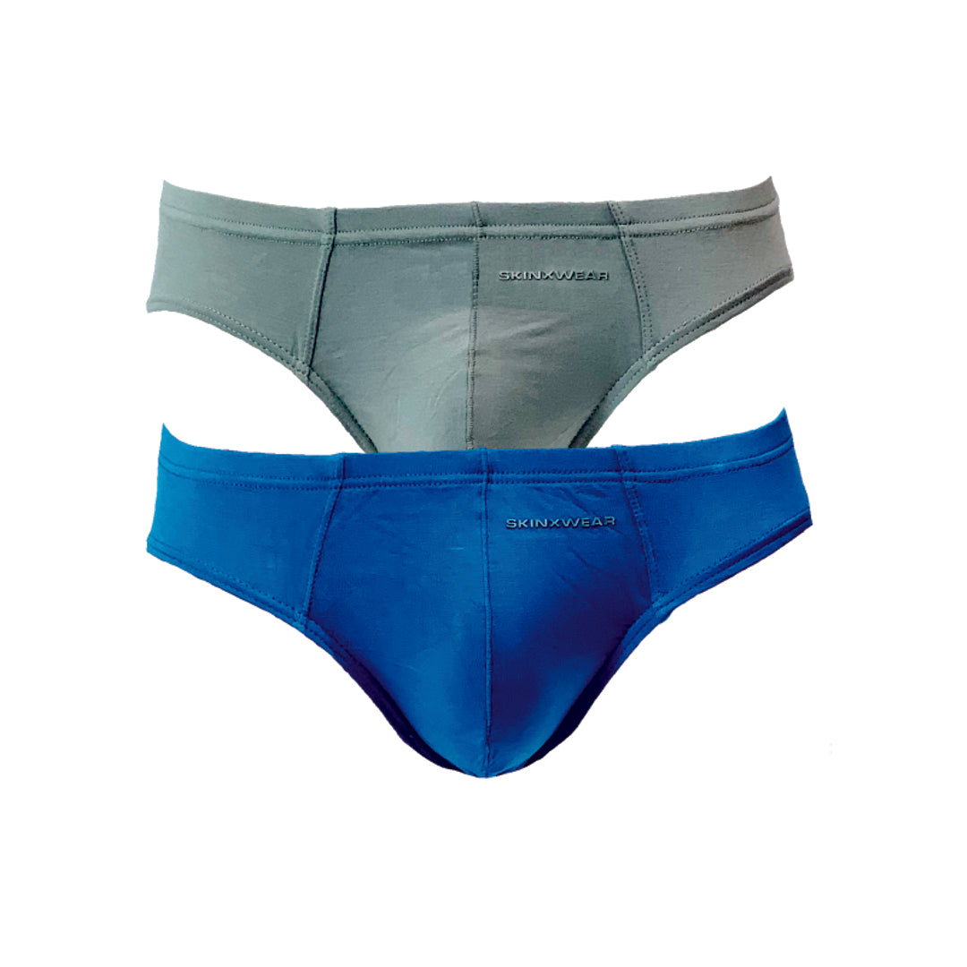 Micro Briefs 2-PC (Grey/ Blue)
