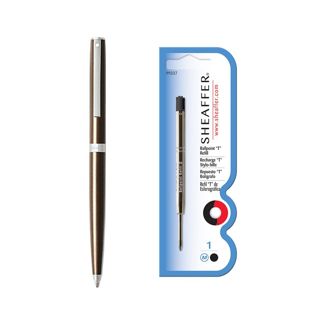 Sagaris Ballpoint Pen Metallic Brown + Refill