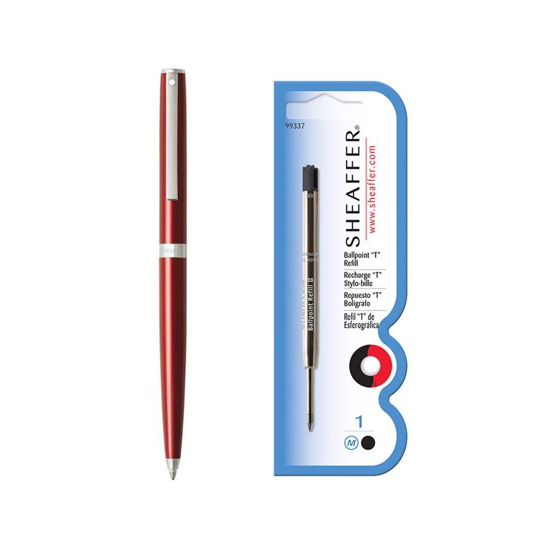 Sagaris Ballpoint Pen Metallic Red + Refill