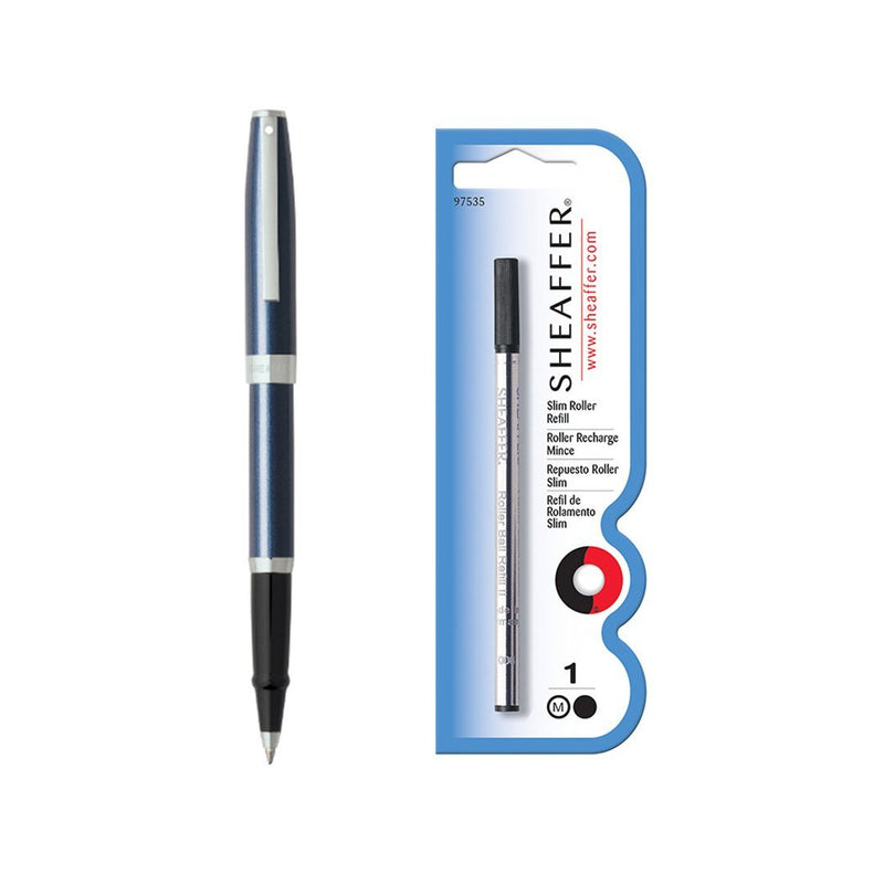 Sagaris Rollerball Pen Metallic Blue + Refill