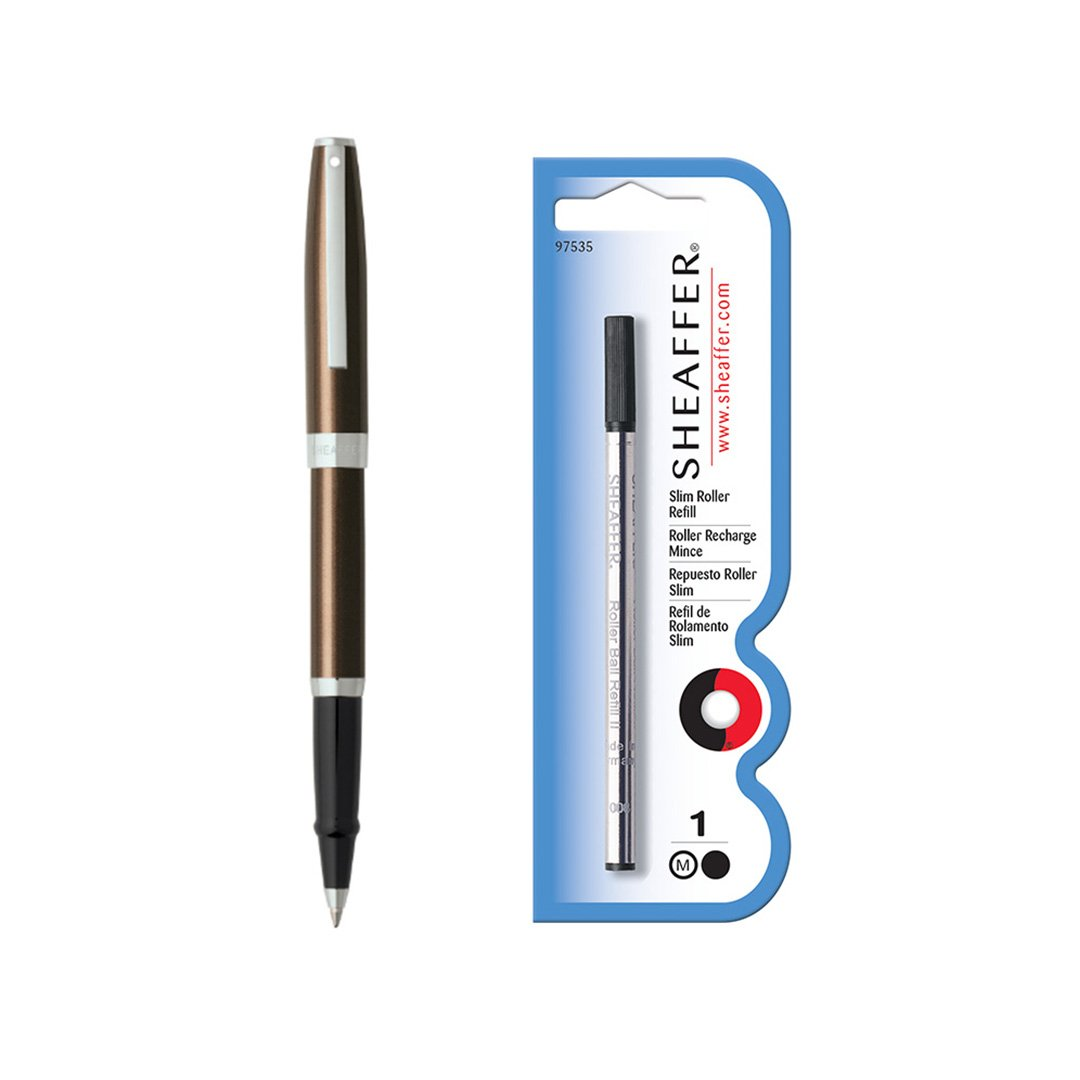 Sagaris Rollerball Pen Metallic Brown + Refill