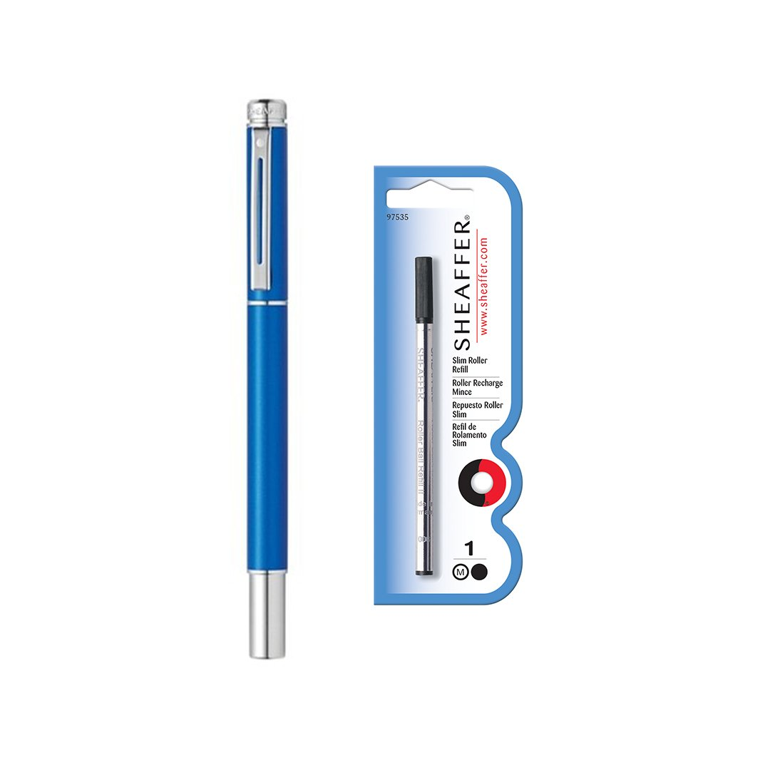 Sheaffer 200 Rollerball Pen Matte Metallic Blue + Refill