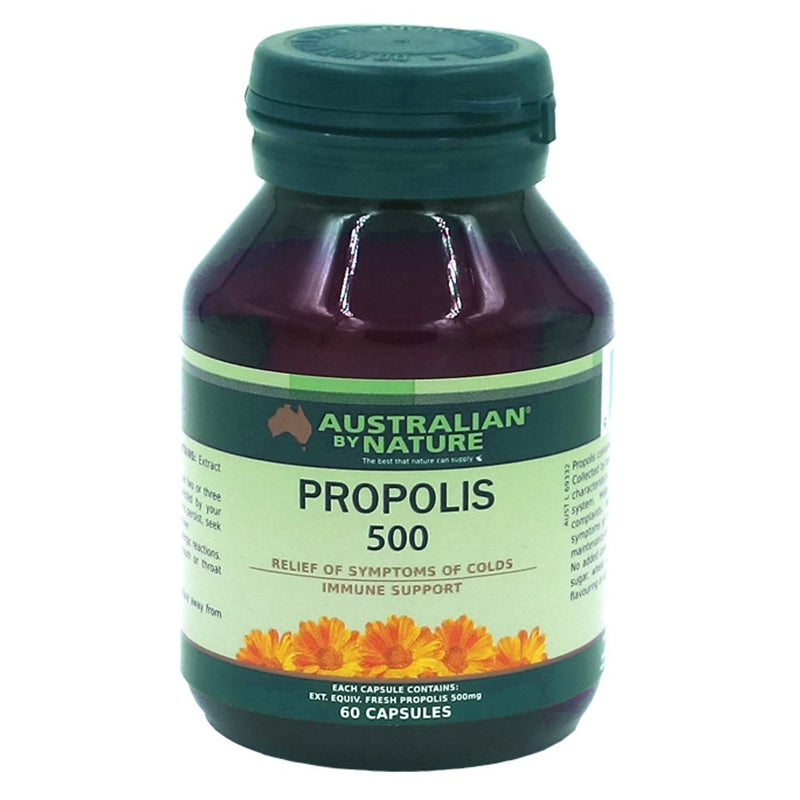 Australian By Nature Propolis Capsules 500mg  60's